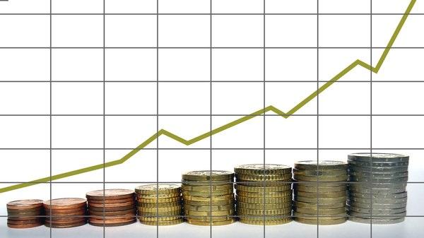 Anstieg von Krediten mit Anstiegskurve