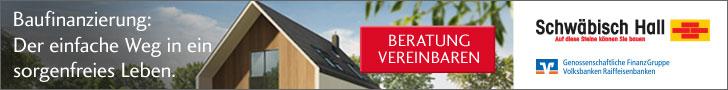 Banner Schwäbisch Hall Beratung Baufinanzierung