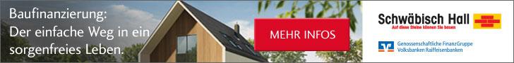 Banner Schwäbisch Hall Infopaket Baufinanzierung